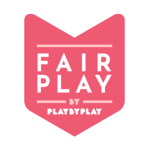 """Graphic of a badge that says """"Fair Play, by Play by Play"""""""